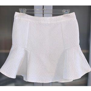 Akira White Ruffle Flare Skirt